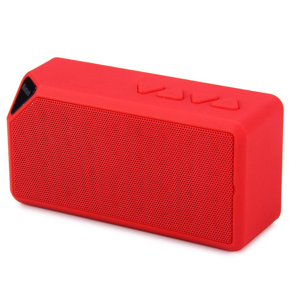 enceinte portable bluetooth sans fil usb lecteur carte radio fm led rouge. Black Bedroom Furniture Sets. Home Design Ideas