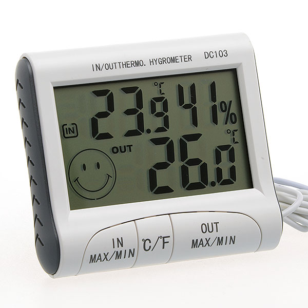 Thermom tre hygrom tre temp rature humidit int rieur for Temperature exterieur