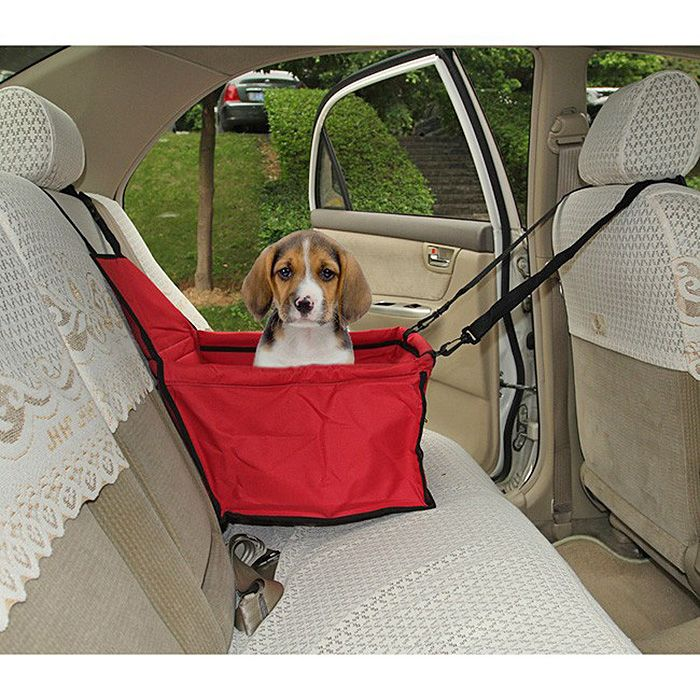 toile panier imperm able protection si ge arri re auto voiture pour chien rouge. Black Bedroom Furniture Sets. Home Design Ideas