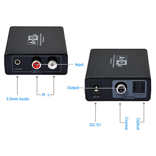 adaptateur convertisseur rca audio coaxiale vers analogique rca audio coaxiale optique s spdif. Black Bedroom Furniture Sets. Home Design Ideas