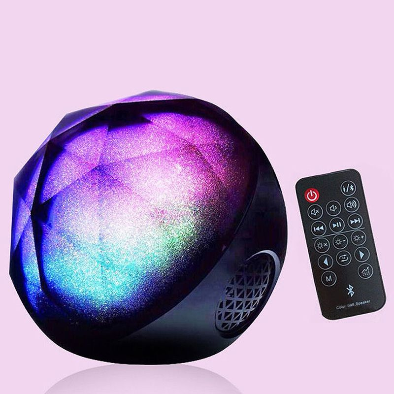 enceinte bluetooth lecteur de carte boule lampe couleur. Black Bedroom Furniture Sets. Home Design Ideas