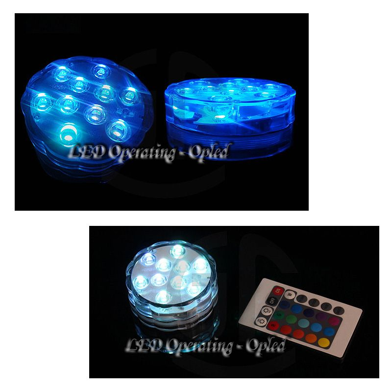 lampe eclairage led etanche pour aquarium poissons rgb lumi re avec t l commande. Black Bedroom Furniture Sets. Home Design Ideas